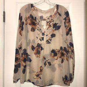 Pleione floral blouse